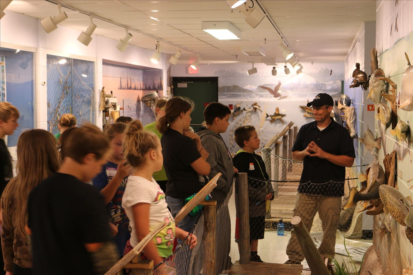 Learning about native fisheries at Besser Museum